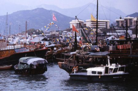 1986 03 08 Hong Kong Cheung Chow Harbor boats